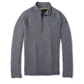 Smartwool Merino 250 Pattern Camiseta Interior 1/4 Cremallera Hombre, medium gray tick stitch